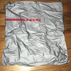Prada plastic dust bag
